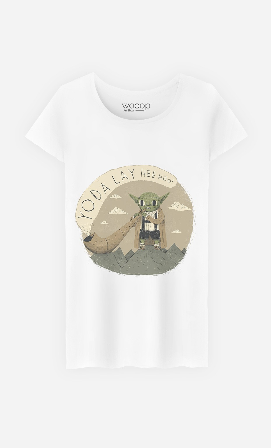 T-Shirt Femme Yoda Layheehoo