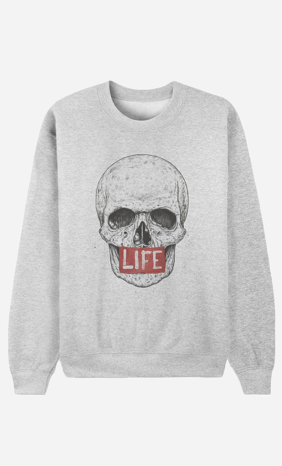 Sweat Homme Skull Life