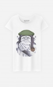 T-Shirt Femme Wise Mr Chimp