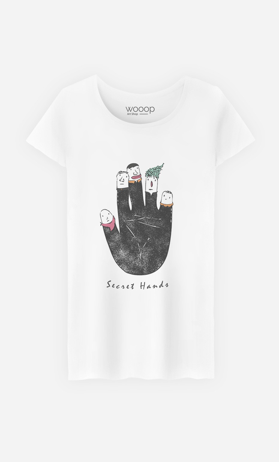 T-Shirt Femme Secret Hands