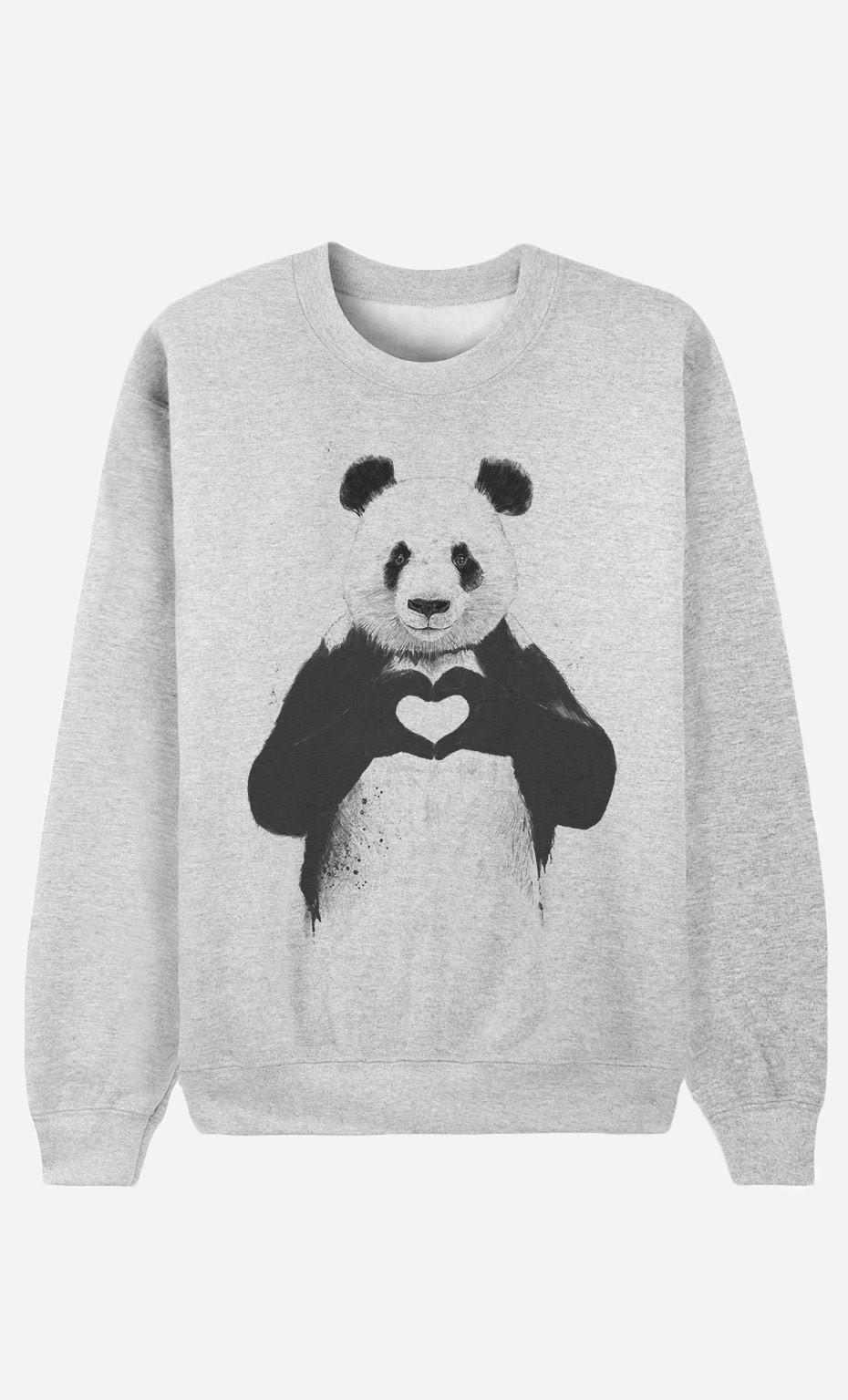 Sweat Homme Love Panda