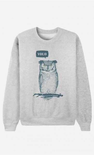 Sweat Homme Yolo Owl