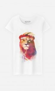 T-Shirt Femme Gym Lion