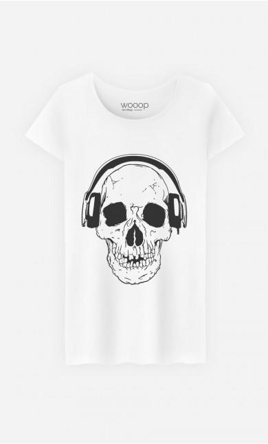 T-Shirt DJ Skull