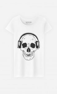 T-Shirt Femme DJ Skull