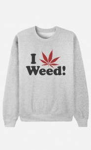 Sweat Homme Love Weed