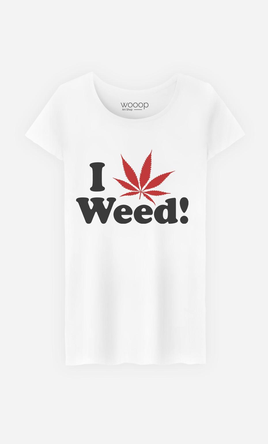 T-Shirt Femme Love Weed