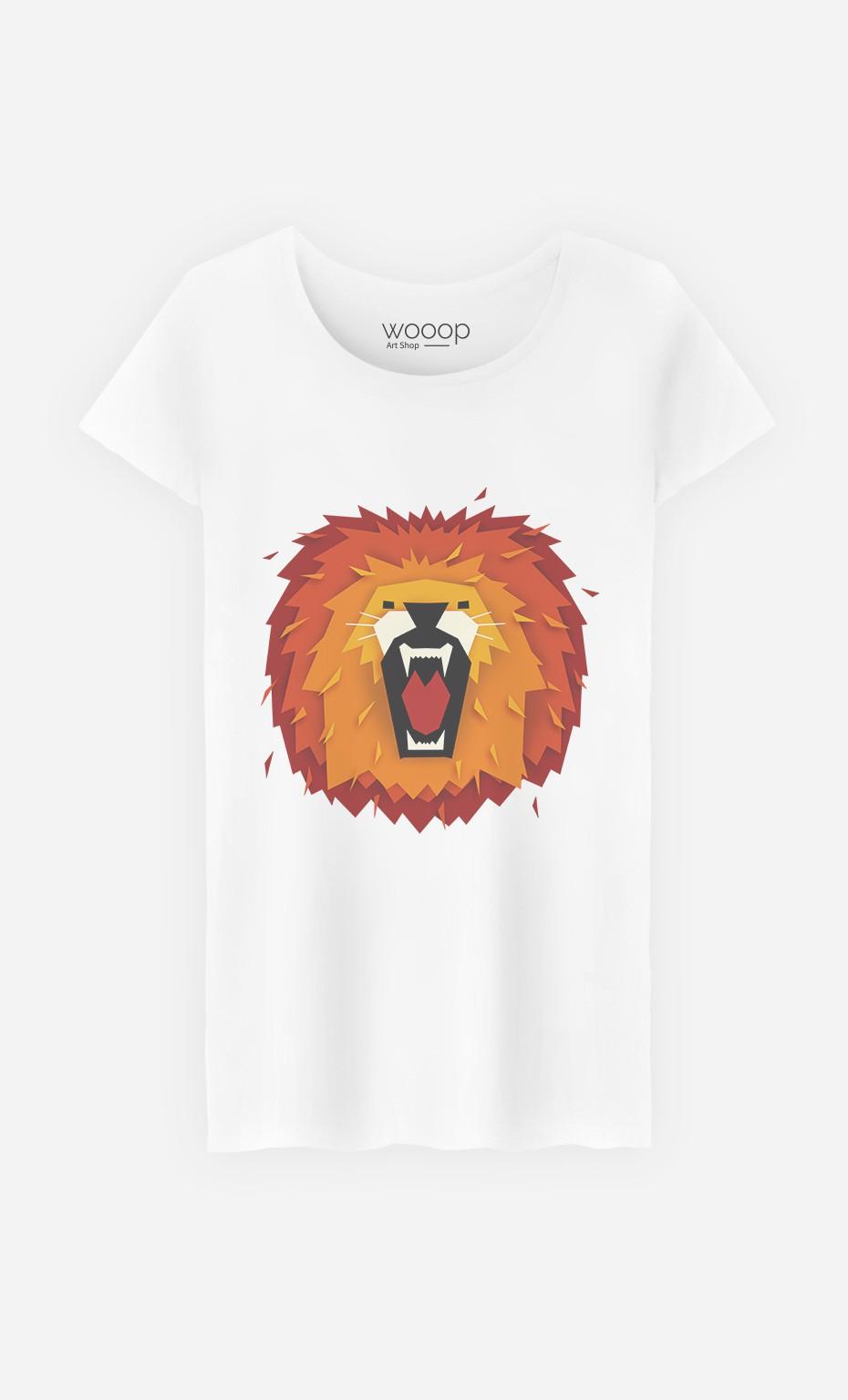 T-Shirt Femme Lion