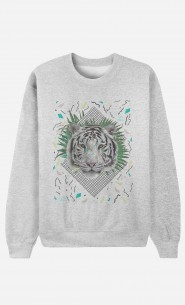 Sweat Homme White Tiger