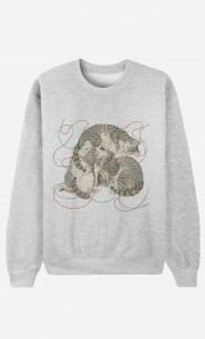 Sweat Homme Sleeping Cats