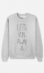 Sweat Homme Tendance Let's Run Away