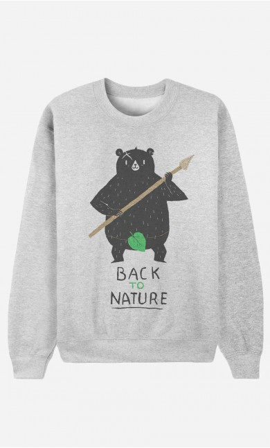Sweat Homme Back to Nature