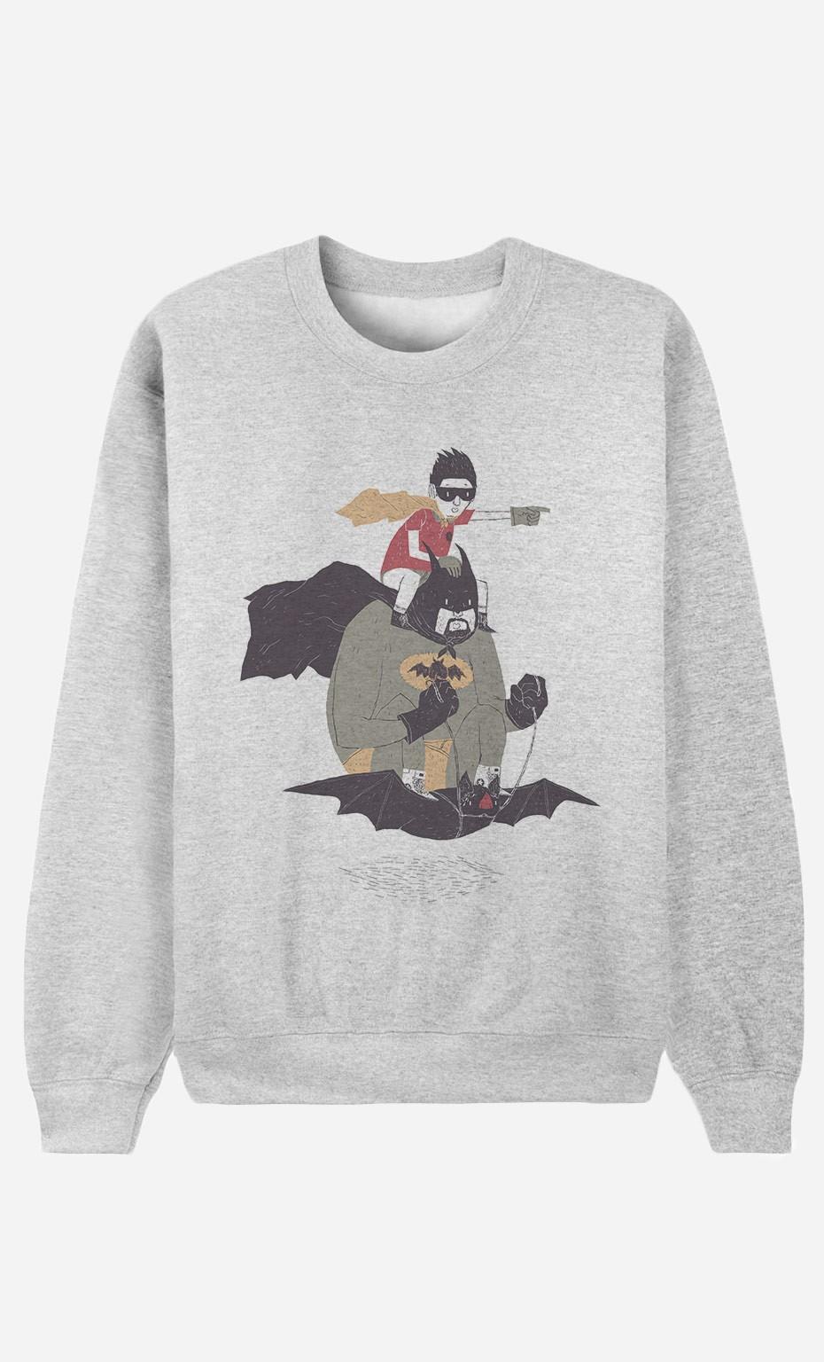 Sweat Homme Batman & Robin