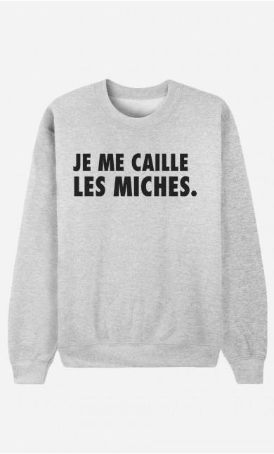 Sweat Femme Je Me Caille Les Miches