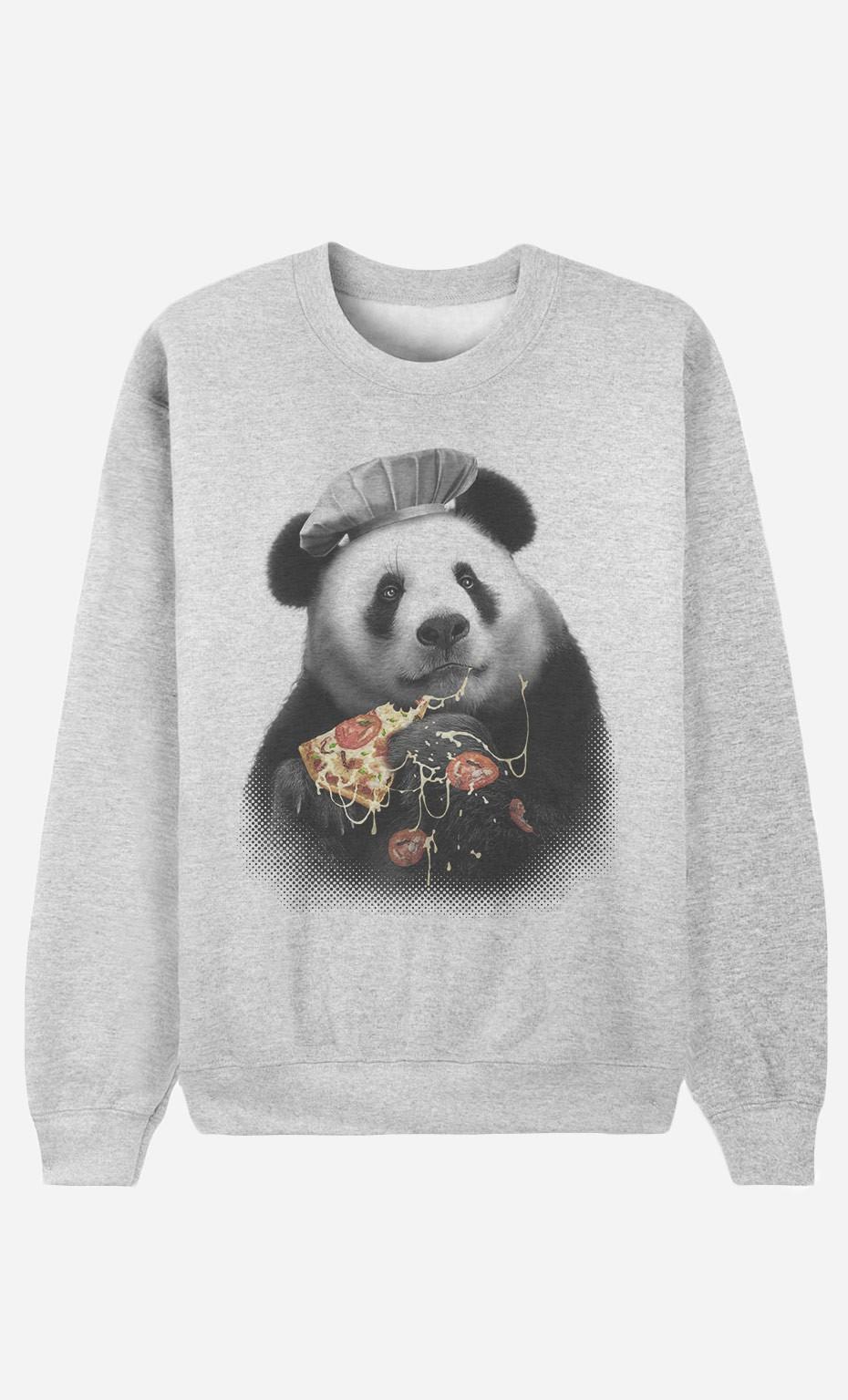 Sweat Femme Panda Pizza