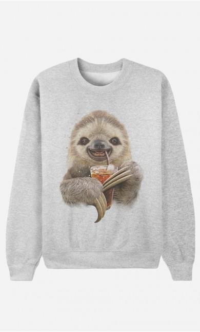 Sweat Femme Sloth & Drink