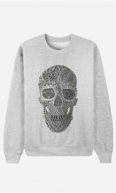 Sweat Femme Lace Skull