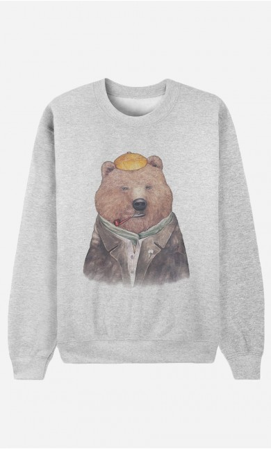 Sweat Femme Brown Bear