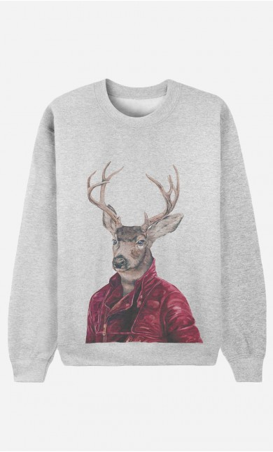 Sweat Femme Red Clad Deer