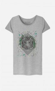 T-Shirt Femme White Tiger