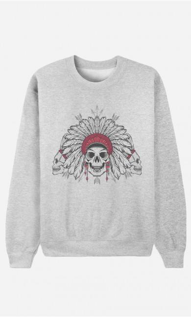 Sweat Femme Native Skull