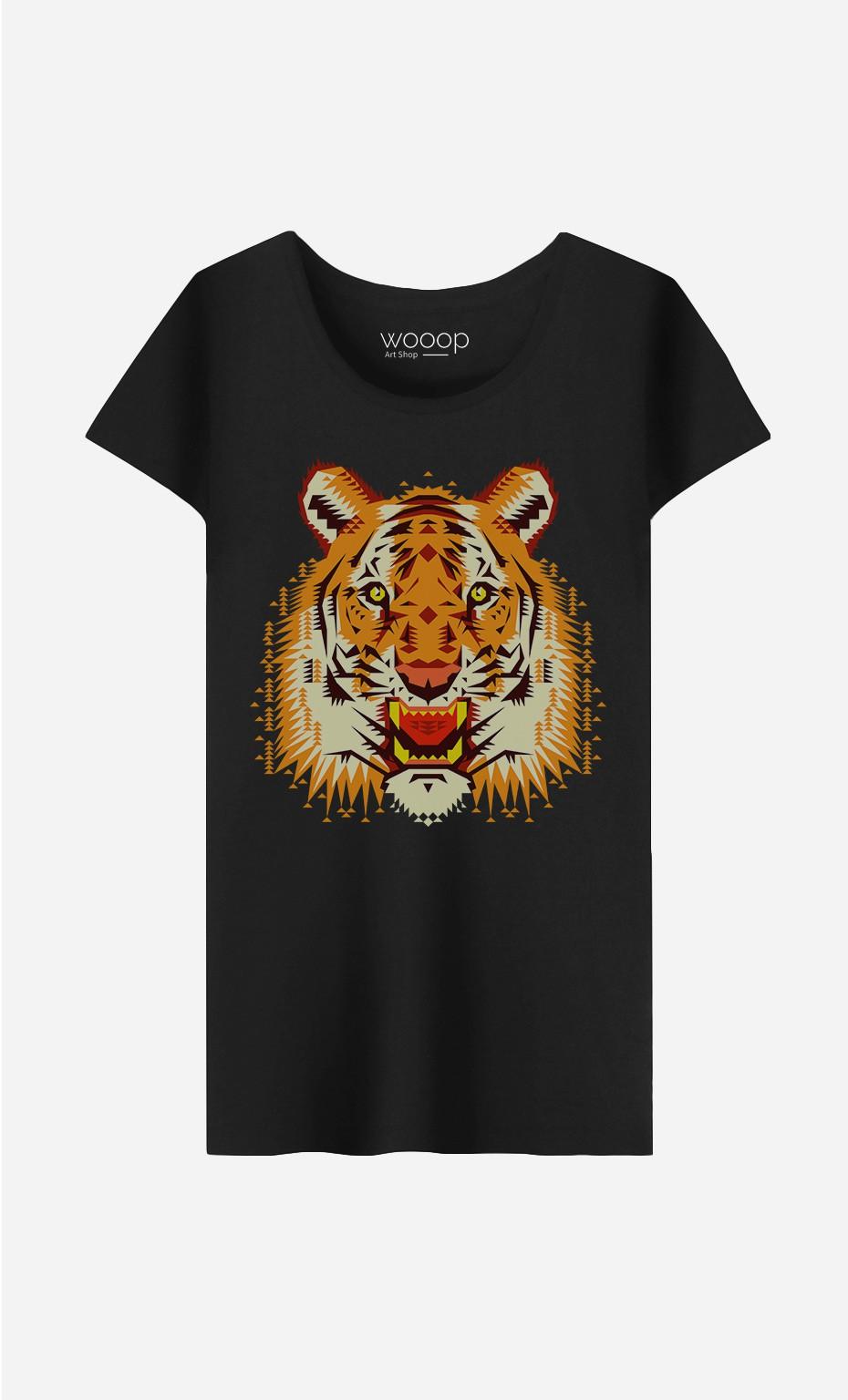 T-Shirt Femme Geo Tiger