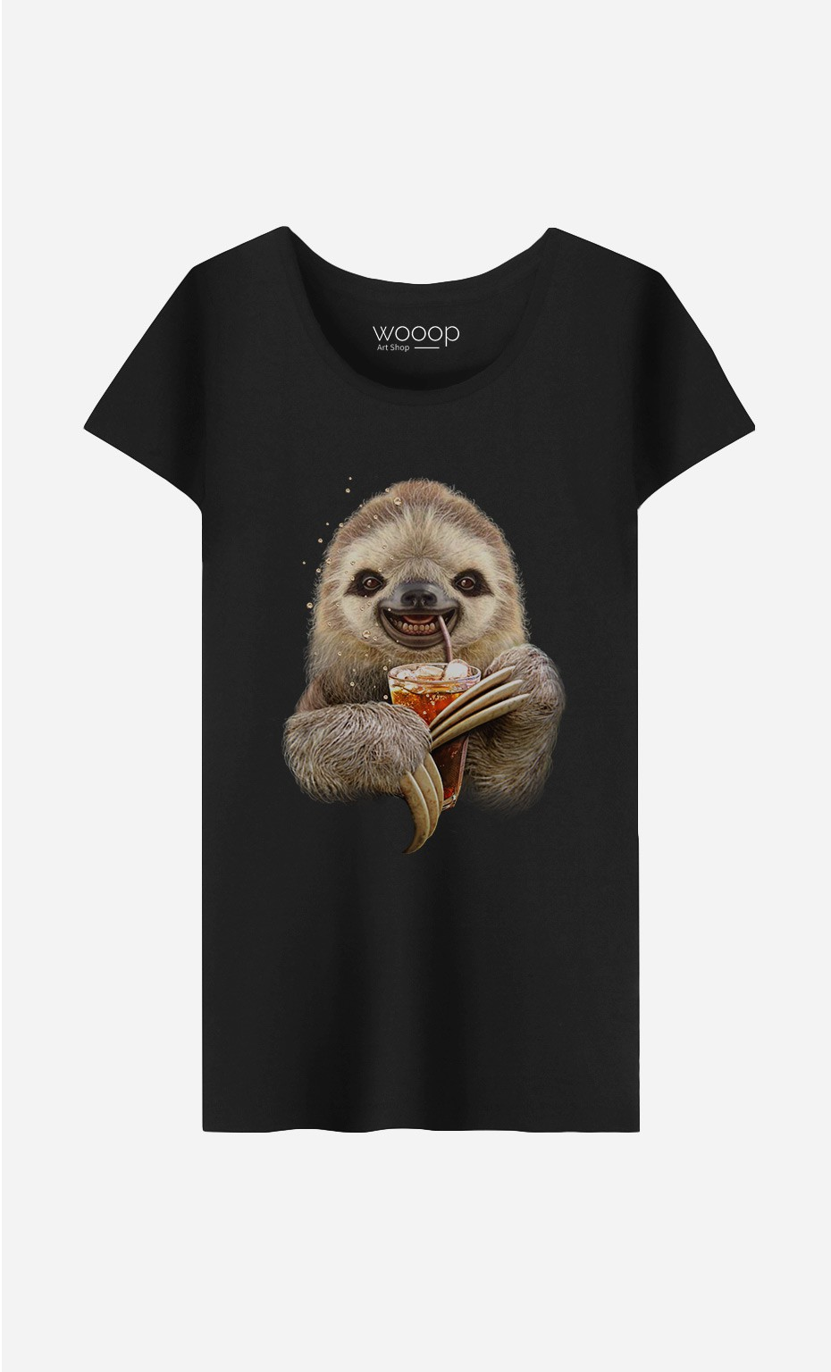 T-Shirt Femme Sloth & Drink