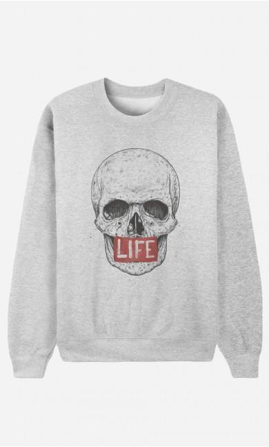 Sweat Femme Skull Life