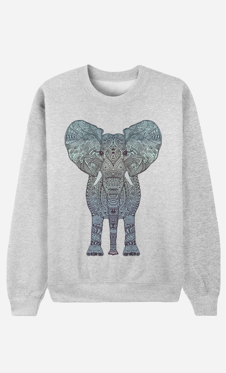Sweat Femme Elephant Blue