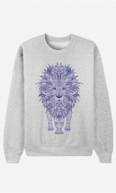 Sweat Femme Lion Blue