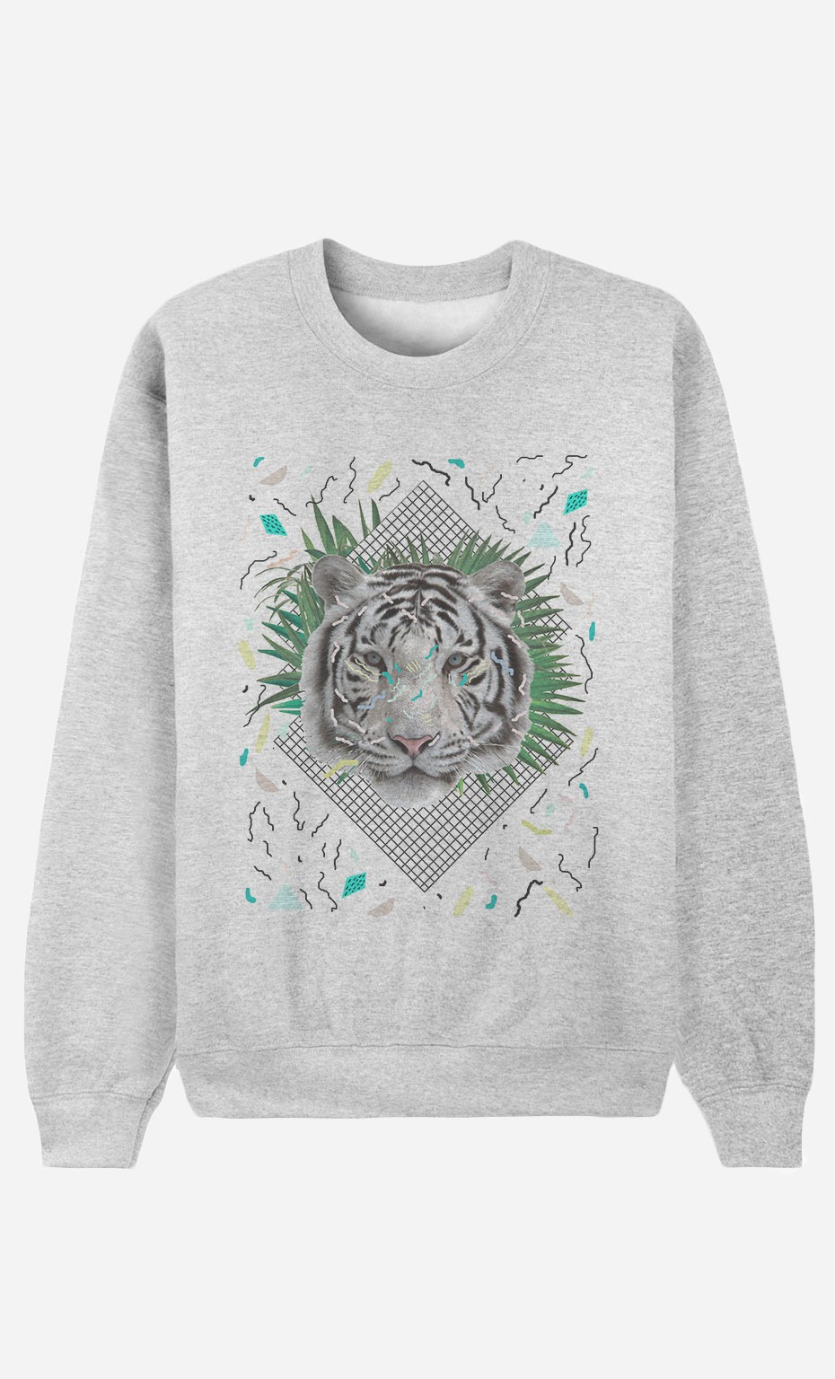 Sweat Femme White Tiger