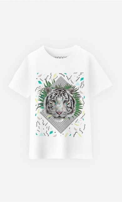 T-Shirt Enfant White Tiger