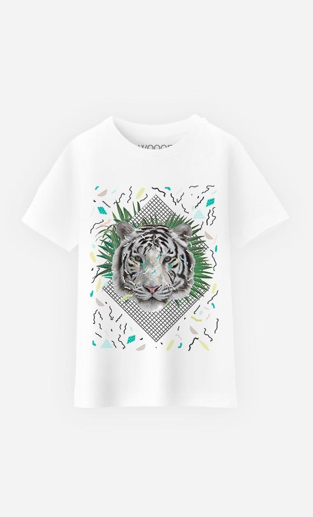 T-Shirt Enfant White Tiger