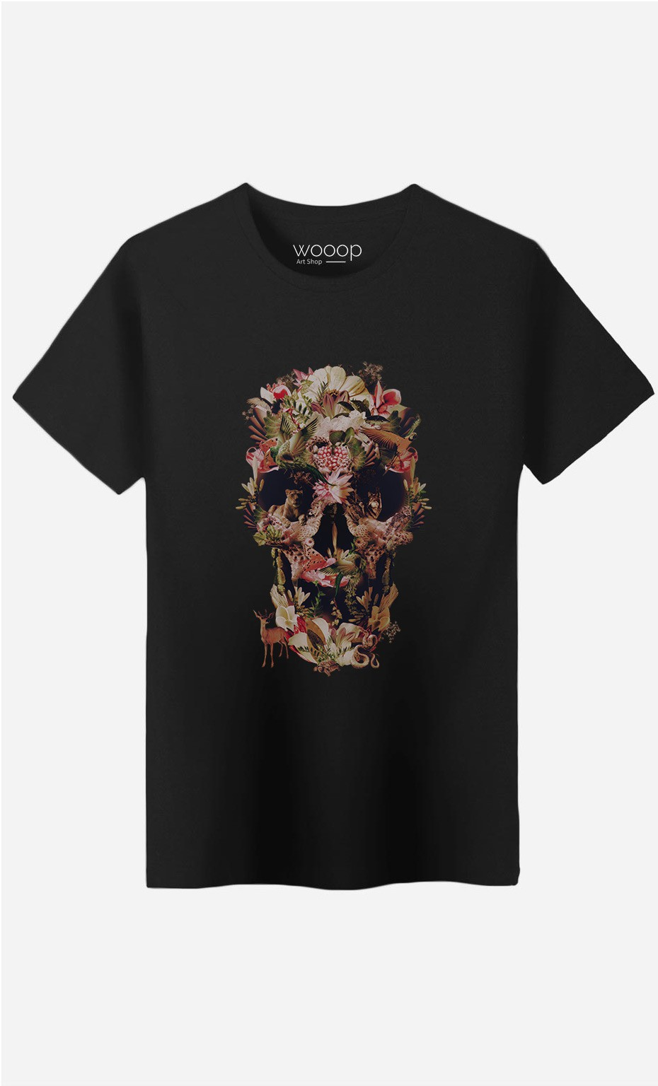 T-Shirt Homme Jungle Skull