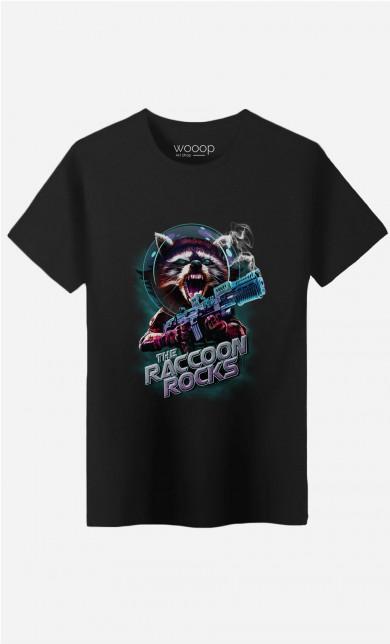 T-Shirt Racoon Rocks