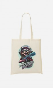 Tote Bag Racoon Rocks