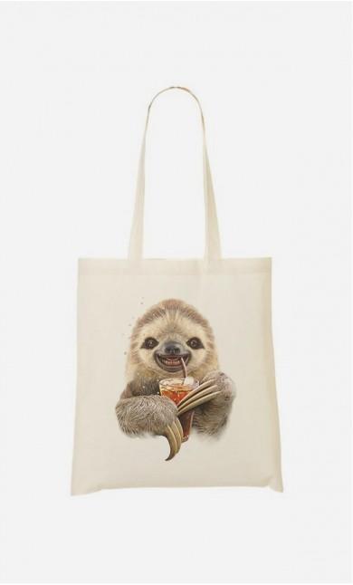 Tote Bag Sloth & Drink