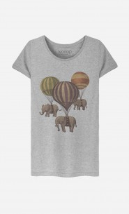 T-Shirt Femme Flight of Elephants