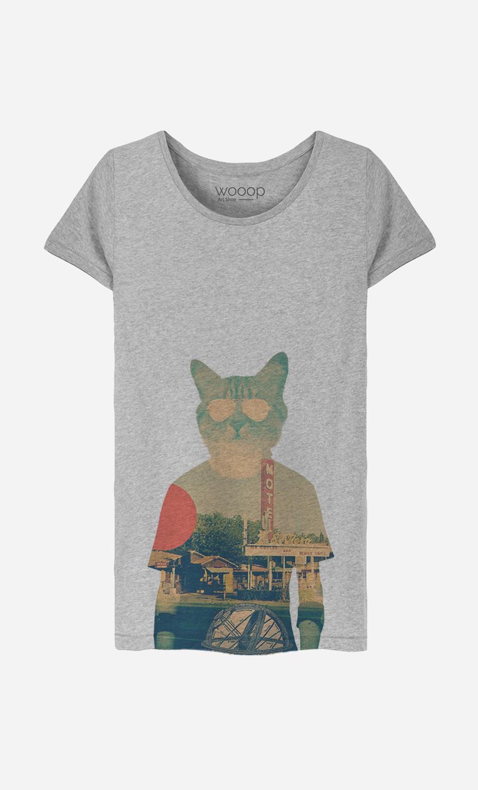 T-Shirt Femme Cool Cat