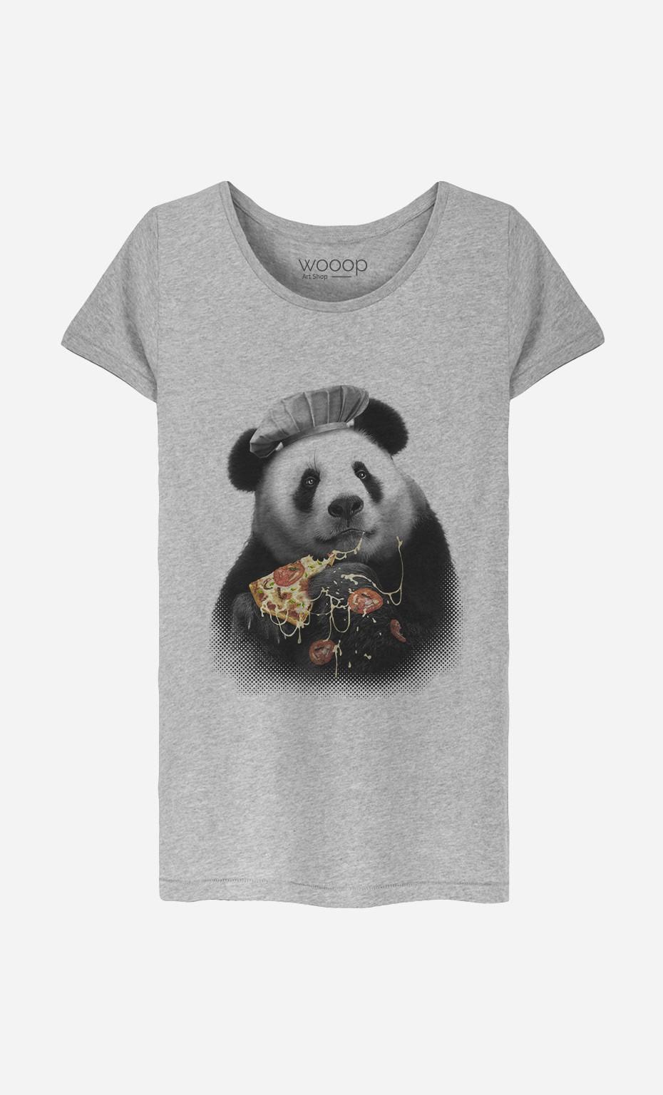 T-Shirt Femme Panda Pizza
