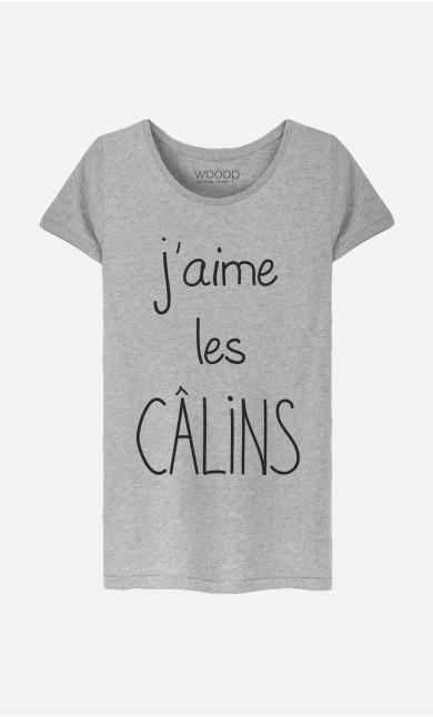 T-Shirt Femme J'aime Les Câlins