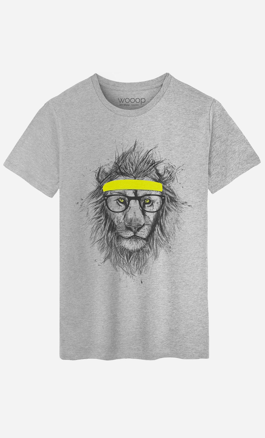 T-Shirt Homme Hipster Lion
