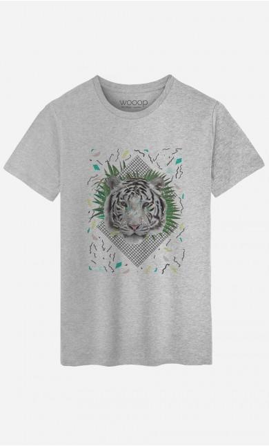 T-Shirt Homme White Tiger