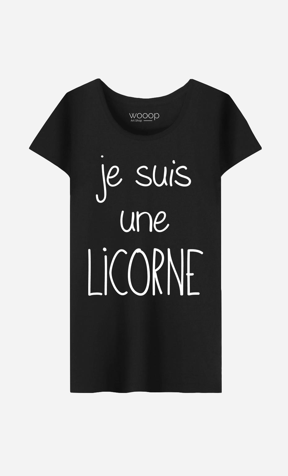 T-Shirt Femme Je Suis Une Licorne