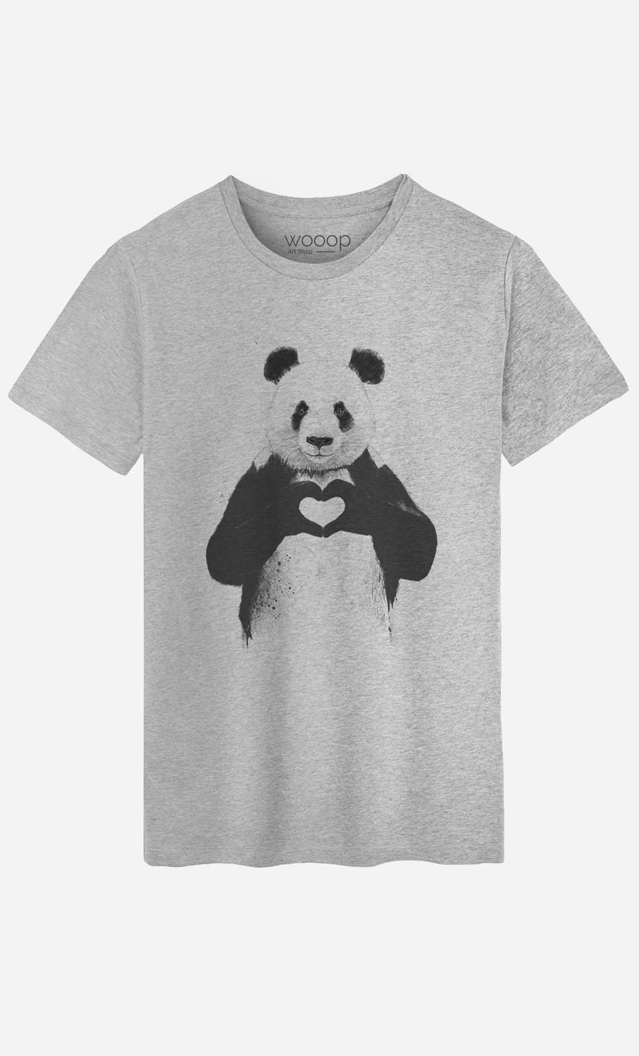 t shirt homme love panda messages marrants wooop. Black Bedroom Furniture Sets. Home Design Ideas