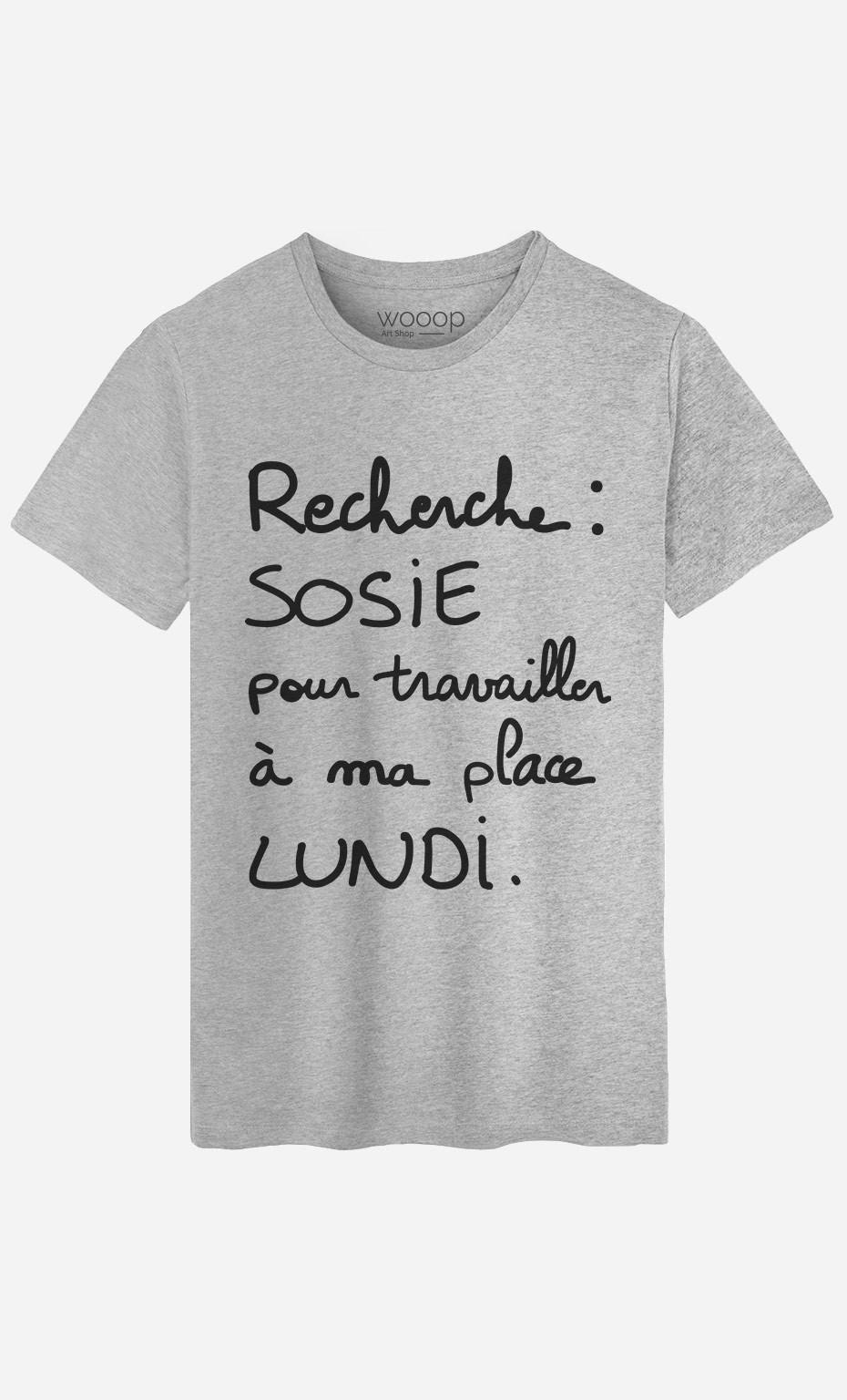 T-Shirt Homme Recherche Sosie