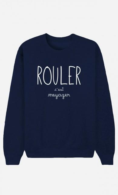 Sweat Bleu Rouler