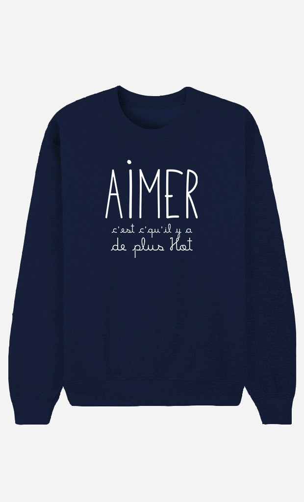 Sweat Bleu Aimer