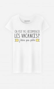 T-Shirt Femme J'étais Pas Prête