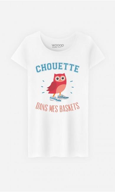 T-Shirt Femme Chouette Dans Mes Baskets